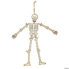 Color Your Own Skeleton Hanging Decorations