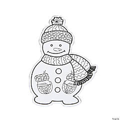 Color Your Own Snowman Magnets