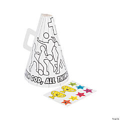 Color Your Own Sports VBS Megaphone Craft Kit