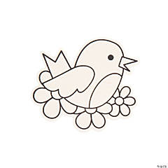 Color Your Own Spring Birds