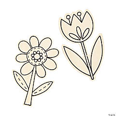 Color Your Own Spring Flowers