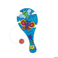 Color Your Own! Spring Paddleball Games
