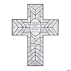 Color Your Own Stained Glass Cross Lent Countdown Sheets