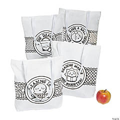 Color Your Own Summer Reading Large Tote Bags
