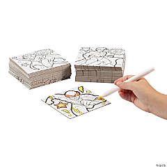 Color Your Own Superhero Mini Jigsaw Puzzles