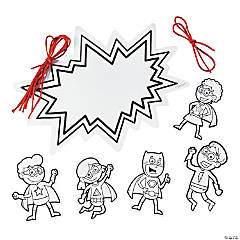 Color Your Own Superhero Mobiles