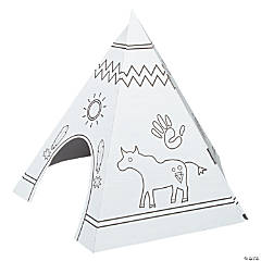 Color Your Own Teepee Playhouse