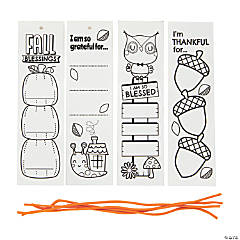 Color Your Own Thankful Bookmarks