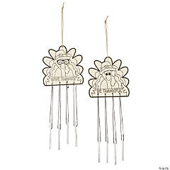 Color Your Own Thanksgiving Turkey Wind Chimes