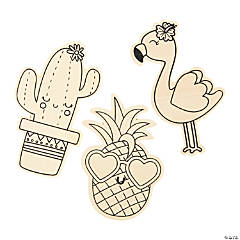 Color Your Own Tropical Characters