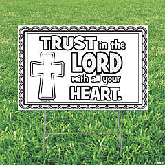Color Your Own Trust in the Lord Yard Sign