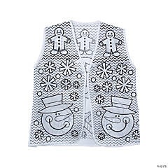 Color Your Own Ugly Sweater Vests