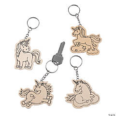 Color Your Own Unicorn Keychains