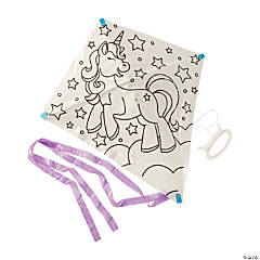 Color Your Own Unicorn Kites