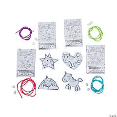 Color Your Own Unicorn Necklace with Gift Box Craft Kit