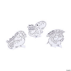 Color Your Own Valentine Dino Stand-Ups