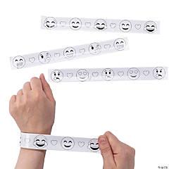 Color Your Own Valentine Emoji Slap Bracelets
