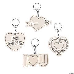 Color Your Own Valentine's Day Keychains