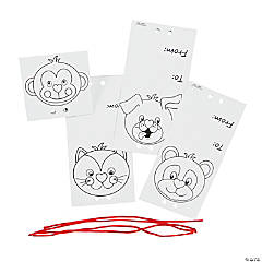 Color Your Own Valentine To/From Sucker Covers