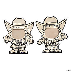 Color Your Own Western Character Picture Frames