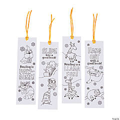 Color Your Own Winter Animals Bookmarks