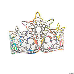Color Your Own Winter Iridescent Crown Headbands