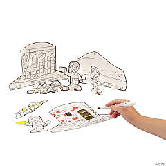 Color Your Own Wise & Foolish Builder Stand-Up Sets