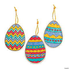 Color Your Own Wood Easter Egg Ornaments