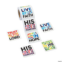 Colorful Bible Verse Sticker Rolls