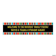 Personalized Small Fiesta Paper Banner