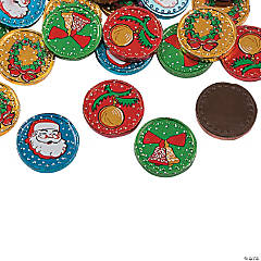Colorful Christmas Chocolate Coins