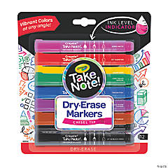 Colorful Crayola® Take Note™ Dry-Erase Markers - 12 Pc.
