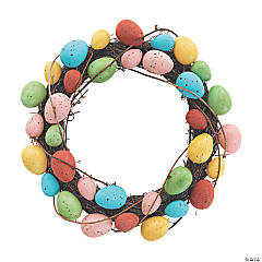 Colorful Easter Egg Wreath