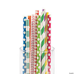 Colorful Paper Straw Assortment