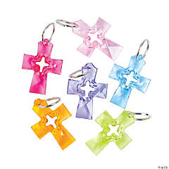 Colorful Plastic Cross Charms
