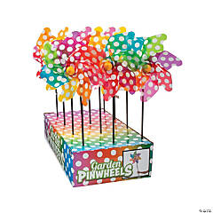 Colorful Polka Dot Pinwheels