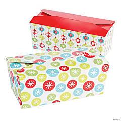 Colorful Snowflake Christmas Favor Boxes