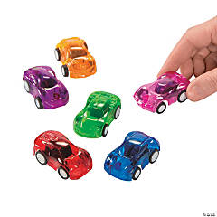 Colorful Transparent Pull-Back Cars