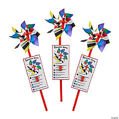 Colors of Faith Pinwheels with Card - 36 Pc.