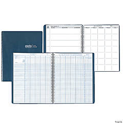 Combination Lesson Planner and Class Record Planner Blue 8-1/2 x 11 Inch - Set of 2