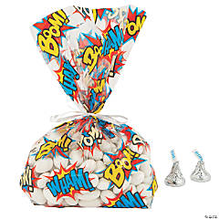 Comic Superhero Cellophane Bags