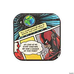 Comic Superhero Dessert Plates