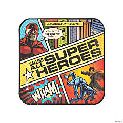 Comic Superhero Paper Dinner Plates - 8 Ct.
