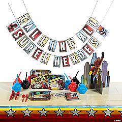 Comic Superhero Party Tableware Kit for 8 Guests