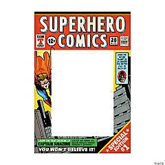 Comic Superhero Photo Booth Frame