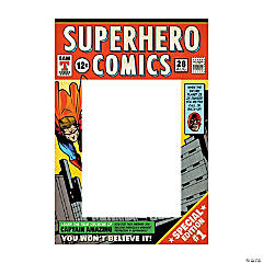 Comic Superhero Photo Frame Prop
