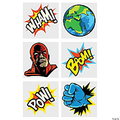 Comic Superhero Temporary Tattoos