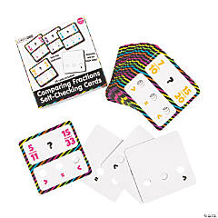 Comparing Fractions Self-Checking Cards
