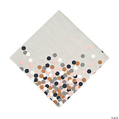 Confetti Design Beverage Napkins