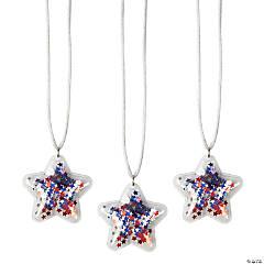 Confetti-Filled Patriotic Necklaces